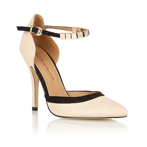 Dolcis - Nude metal ankle strap court shoes