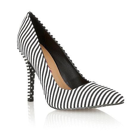 Dolcis - White stripe court shoes
