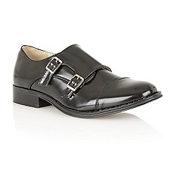 Dolcis - Black patent 'Paris' monk strap loafers