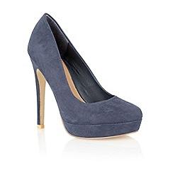 Dolcis - Navy 'Piza' stiletto court shoes