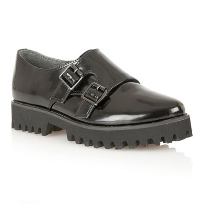Dolcis Black patent ´Budapest´ monk shoes - . -