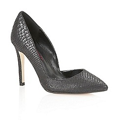 Dolcis - Black snake 'Venice' ladies court shoes