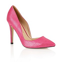 Dolcis - Fuchsia snake 'Venice' ladies court shoes