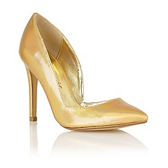 Dolcis - Gold iridescent 'Venice' court shoes