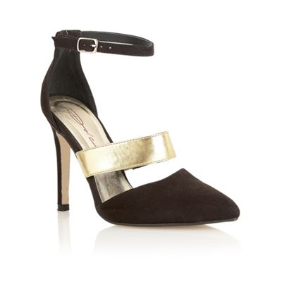 Dolcis Black/gold ´Vienna´ metallic strap court shoes - . -