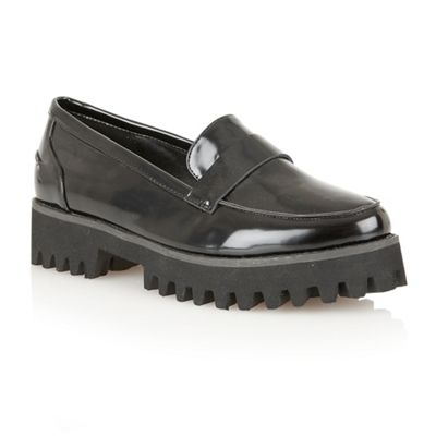 Dolcis Black patent ´Warsaw´ chunky sole loafers - . -