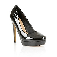 Dolcis - Black patent 'Barcelona' ladies court shoes