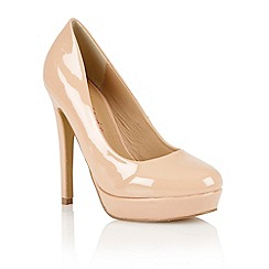 Dolcis - Nude patent 'Barcelona' ladies court shoes