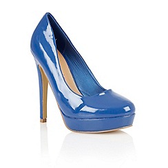 Dolcis - Blue patent 'Barcelona' ladies court shoes