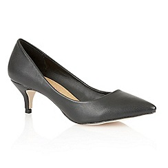 Dolcis - Black 'Riga' ladies court shoes