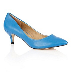 Dolcis - Blue 'Riga' ladies court shoes