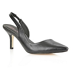 Dolcis - Black 'Edinburgh' ladies sling-back court shoes