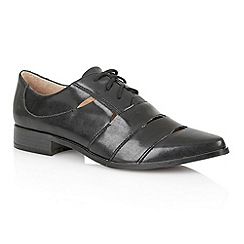 Dolcis - Black 'Orleans' ladies cut-out brogues