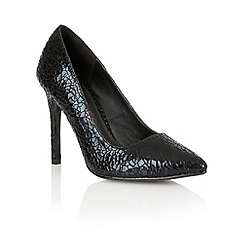 Dolcis - Black 'Turin' ladies pointed-toe court shoes