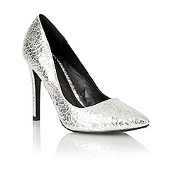 Dolcis - Silver 'Turin' ladies pointed-toe court shoes
