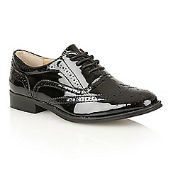 Dolcis - Black Patent 'Bristol' ladies lace-up brogues
