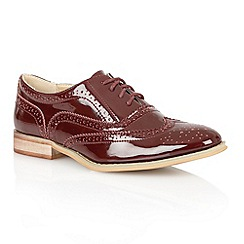 Dolcis - Burgundy patent 'Bristol' ladies brogues