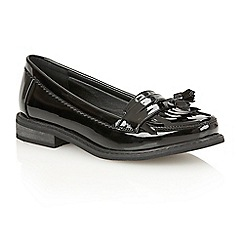 Dolcis - Black Patent 'Frankfurt' slip-on loafers