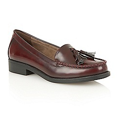 Dolcis - Burgundy 'Faye' slip-on loafers