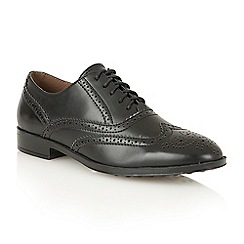 Dolcis - Black 'Madison' ladies lace-up brogues