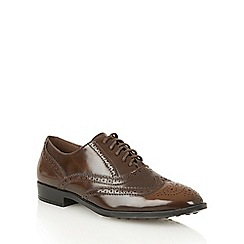 Dolcis - Brown 'Madison' ladies lace-up brogues
