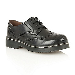 Dolcis - Black 'Dayanna' ladies lace up brogues