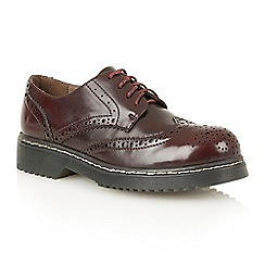 Dolcis - Burgundy 'Dayanna' ladies lace-up brogues