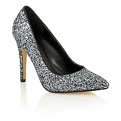 Dolcis - Pewter 'Chiara' high heeled court shoes