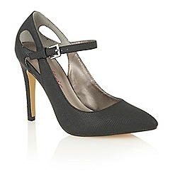 Dolcis - Black 'Chassie' high heeled court shoes