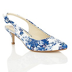 Dolcis - Blue 'Seneca' kitten heeled pumps