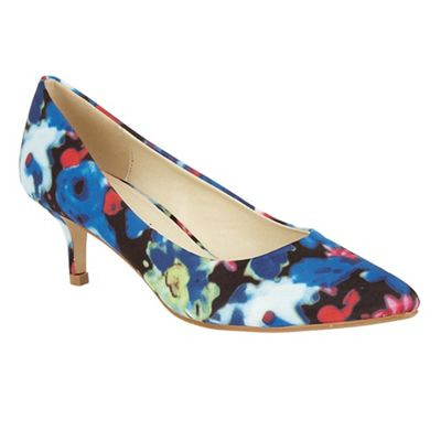 Dolcis Blue Floral Sylwia slip-on court shoes