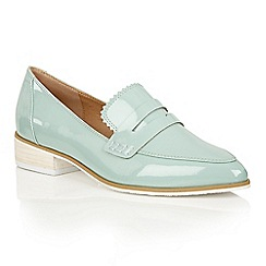 Dolcis - Blue 'Cara' block heeled loafers