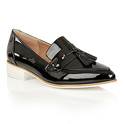 Dolcis - Black 'Carina' small block heeled loafers