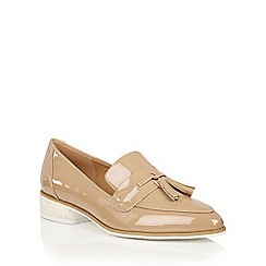 Dolcis - Nude 'Carina' small block heeled loafers