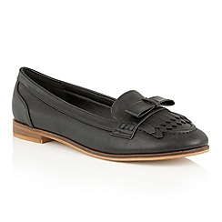 Dolcis - Black 'Jessica' slip-on flat loafers