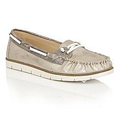 Dolcis - Bronze 'Shawn' flat slip-on loafers