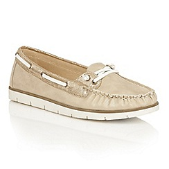 Dolcis - Gold 'Shawn' flat slip-on loafers