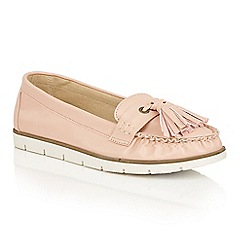 Dolcis - Pink 'Sheila' slip-on flat tassle loafers