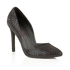 Dolcis - Black 'Leticia' slip-on stiletto court shoes