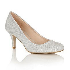 Dolcis - Silver 'Korina' court shoes