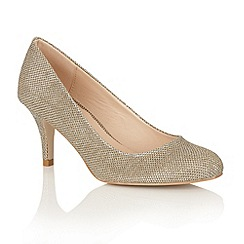 Dolcis - Gold 'Korina' court shoes