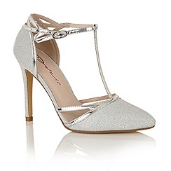 Dolcis - Silver 'Nevada' court shoes