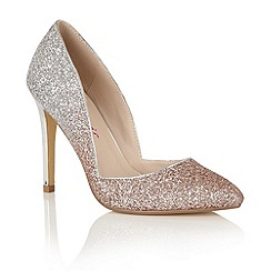 Dolcis - Rose Gold/Silver 'Shanelle' court shoes