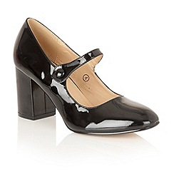 Dolcis - Black 'Kyra' court shoes