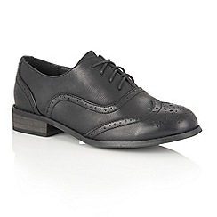 Dolcis - Black Matte 'Cary' brogues