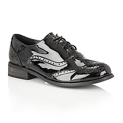 Dolcis - Black Patent 'Cary' brogues