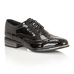 Dolcis - Black Patent 'Casey' brogues