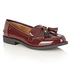 Dolcis - Wine Patent 'Dorset' loafers