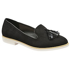 Dolcis - Black 'Kenzie' ladies slip on casual loafers