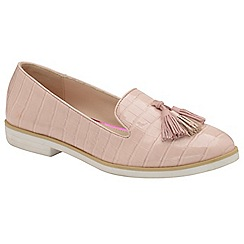 Dolcis - Pink 'Kenzie' ladies slip on casual loafers